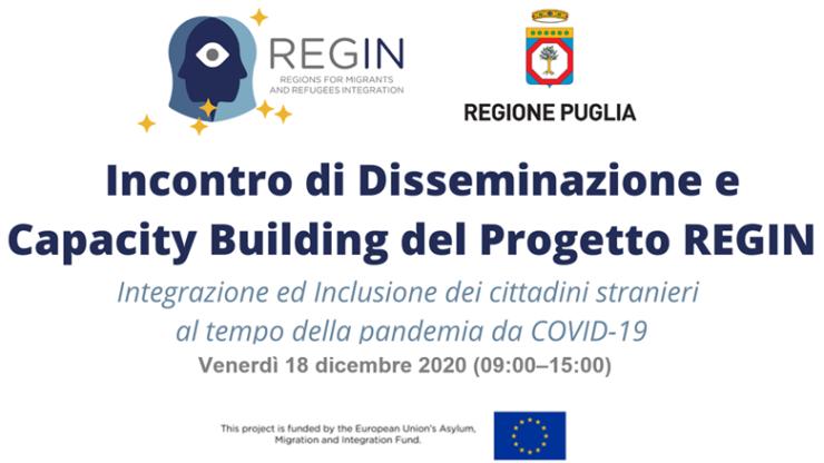 Regin, un incontro online sull'integrazione dei cittadini stranieri al tempo del Covid-19